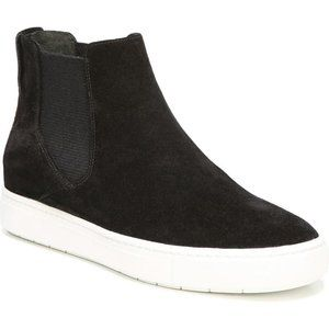 Vince Newlyn Black Suede High Top Sneaker Boots